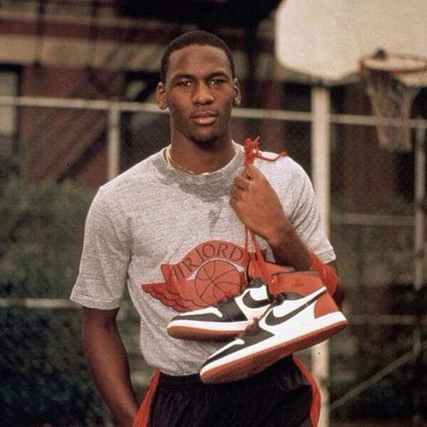 Michael Jordan advertising for Nike