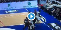 VIDEO: Skok za žogo se je sprevrgel v pretep