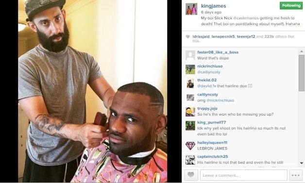 LeBron zna narediti reklamu tudi svojemu frizerju