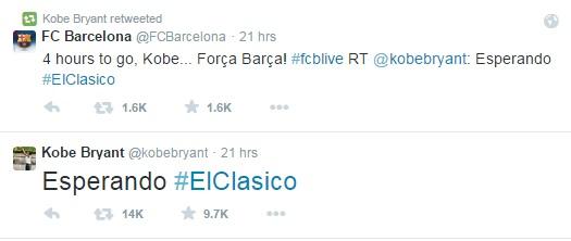 Tudi Kobe navija za Barco