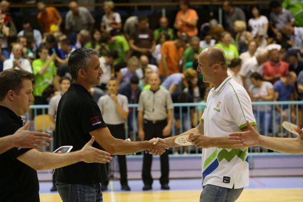Igor Kokoškov in Jure Zdovc. foto: KZS