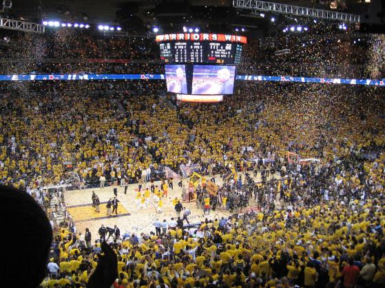 V Oracle areni so sedeli le najsrečnejši. foto: nba.com