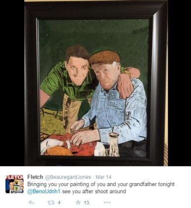 Beno slika z dedkom