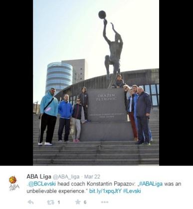 ABA BCLevski Konstantin Papazov obiskal spomenik