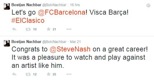 Boki čestita Nashu in navija za barco