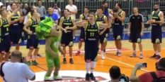 VIDEO: Luka Dončić po tekmi dvignil Tabor na