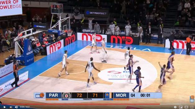 Na semaforju televizije do konca sekunda, na semaforju nad koše Partizana 1.9!
